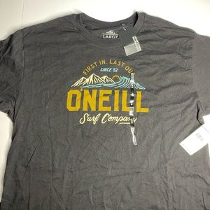 NWT O'Neil t shirt black surfing